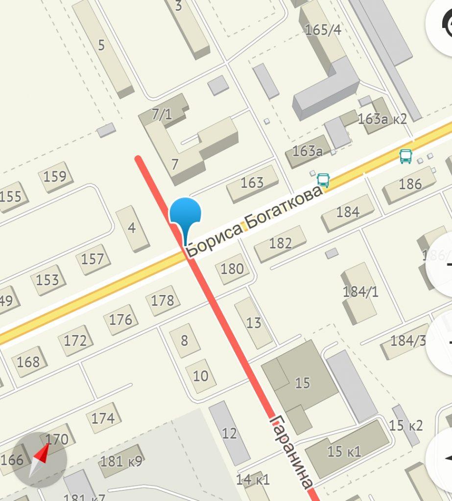 Новый светофор на перекрестке улиц Б. Богаткова и Гаранина
